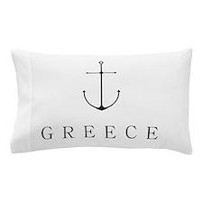 Greece Sailing Anchor Pillow Case