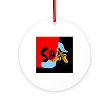Sax Color Block Ornament (Round)