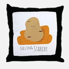 Feeling Starchy Throw Pillow