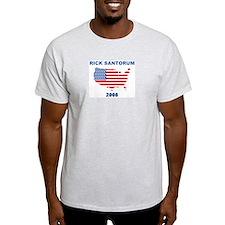 RICK SANTORUM 2008 (US Flag) T-Shirt