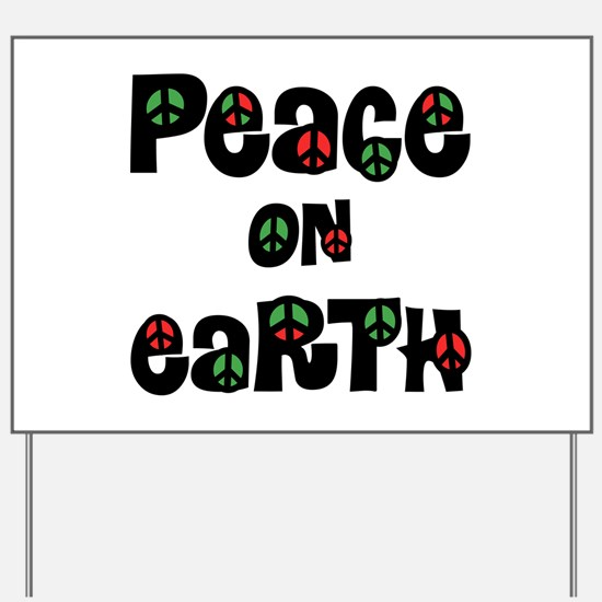 Peace On Earth Christmas Yard Sign