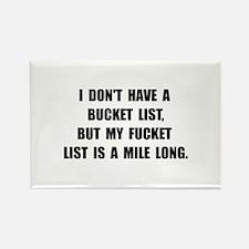 Cute Bucket list Rectangle Magnet