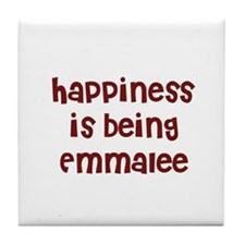 happiness is being Emmalee Tile Coaster