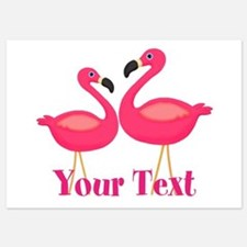 Personalizable Pink Flamingoes Invitations