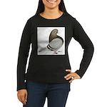 Brown Bar Flight Women's Long Sleeve Dark T-Shirt
