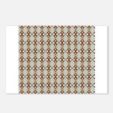 Blue Red Green Argyle Diamond Checkered Print Post