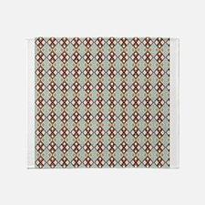 Blue Red Green Argyle Diamond Checkered Print Thro