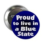 Connecticut Blue State Button