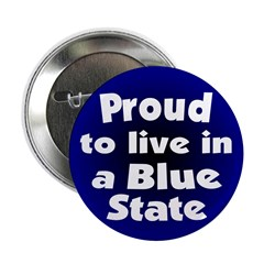 Connecticut Blue State Button