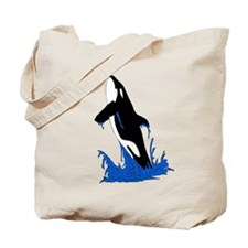 Jumping Killer Whale Orca Tote Bag