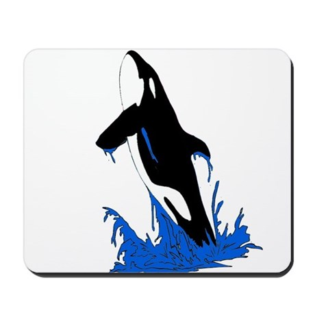 Jumping Killer Whale Orca Mousepad