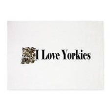 I love Yorkies long1.png 5'x7'Area Rug
