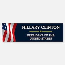 Hillary Clinton President V3 Sticker (Bumper)