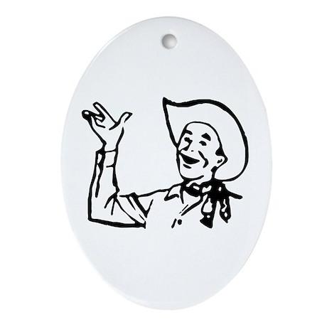 Big Texas Howdy Y'all Oval Ornament