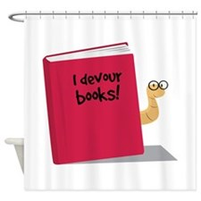 I Devour Books Shower Curtain
