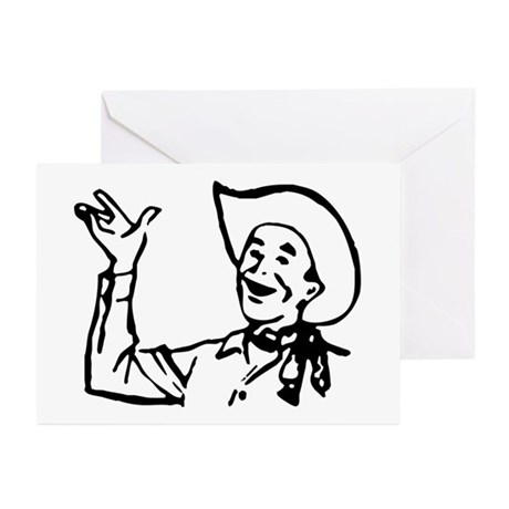 Big Texas Howdy Y'all Greeting Cards (Pk of 10