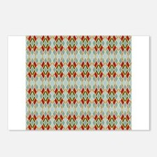 Argyle Diamond Pattern Postcards (Package of 8)