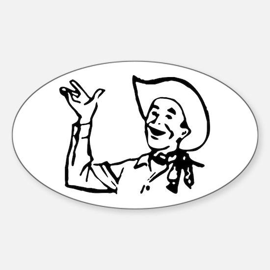 Big Texas Howdy Y'all Oval Decal