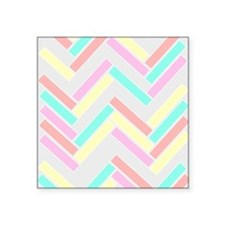 "Geo Squares Square Sticker 3"" x 3"""