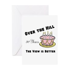 Over the Hill, the view is better Greeting Card