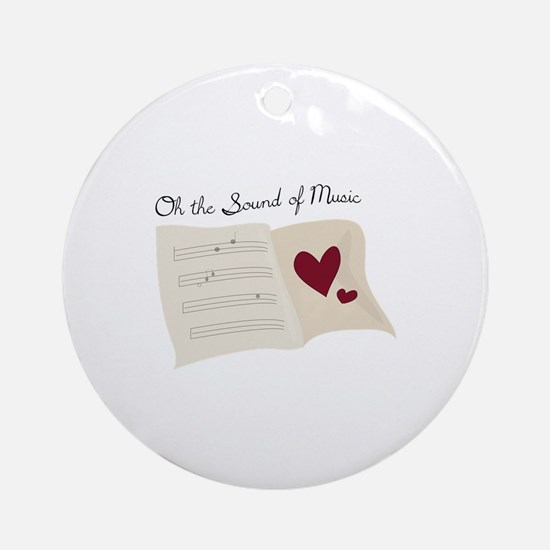 Sound of Music Ornament (Round)