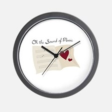 Sound of Music Wall Clock