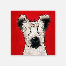 Briard Buddy On Red Sticker