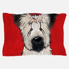 Briard Buddy On Red Pillow Case