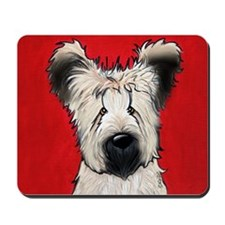 Briard Buddy On Red Mousepad
