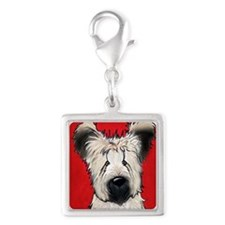 Briard Buddy On Red Charms