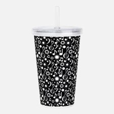 Music Notes and Clefs Acrylic Double-wall Tumbler