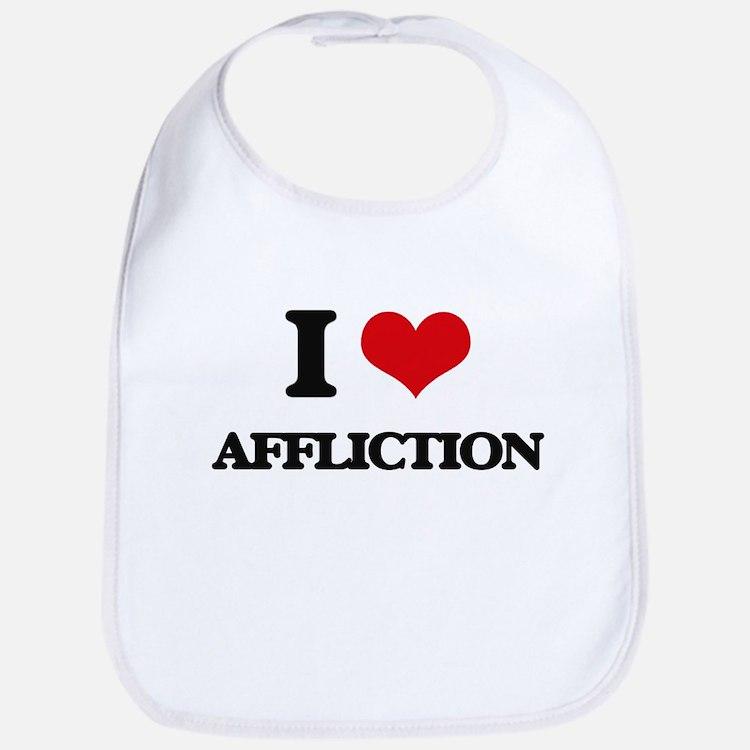 I Love Affliction Bib