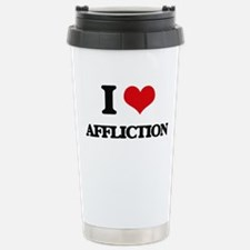 I Love Affliction Stainless Steel Travel Mug
