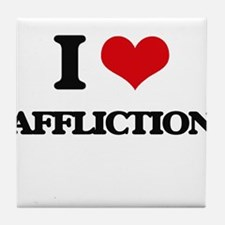 I Love Affliction Tile Coaster