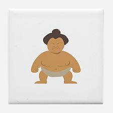 Sumo Wrestler Tile Coaster