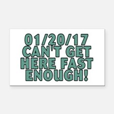 01/20/17 can't get here - Rectangle Car Magnet