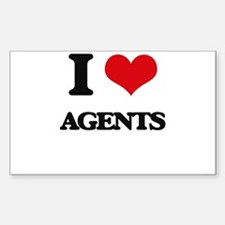 I Love Agents Decal