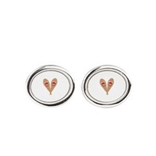 Vintage Snowshoes Oval Cufflinks