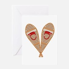 Vintage Snowshoes Greeting Cards