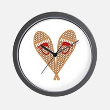 Vintage Snowshoes Wall Clock