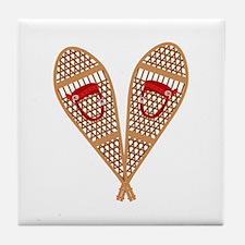 Vintage Snowshoes Tile Coaster