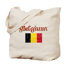 Belgian Flag Tote Bag