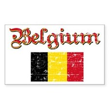 Belgian Flag Rectangle Decal