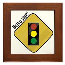 Drive Safe! Framed Tile
