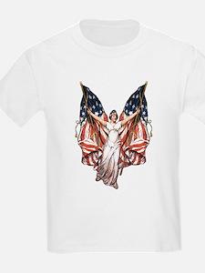 Vintage American Flag Art T-Shirt
