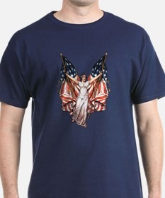 Vintage American Flag Art T-Shirt