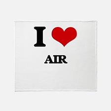 I Love Air Throw Blanket