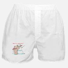 Wheaten Snowman Boxer Shorts