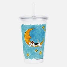 WireFoxMoon.png Acrylic Double-wall Tumbler