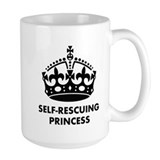 Self rescuing princess Coffee Mugs